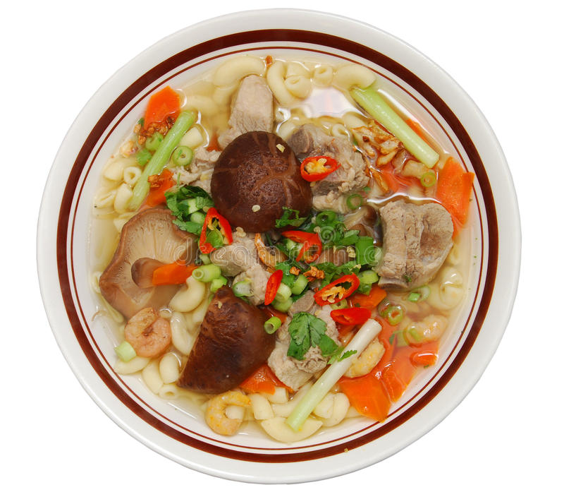 Download Bowl of pork pasta stock photo. Image of background, pasta - 17024570
