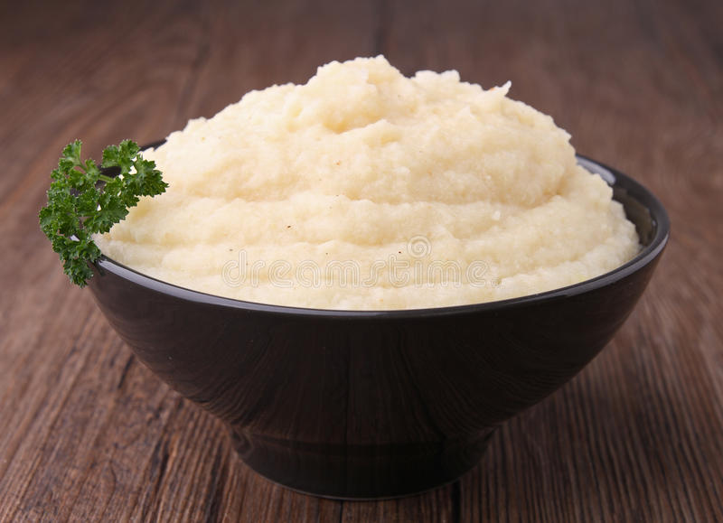 Bowl of puree stock photography