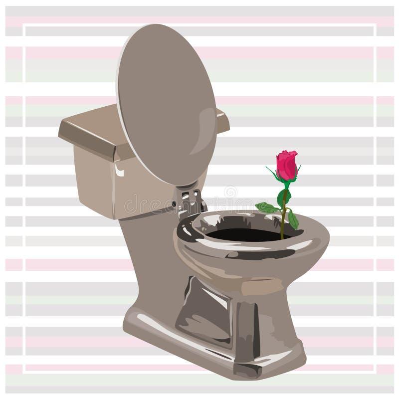 Bowl_with_Rose ilustração do vetor