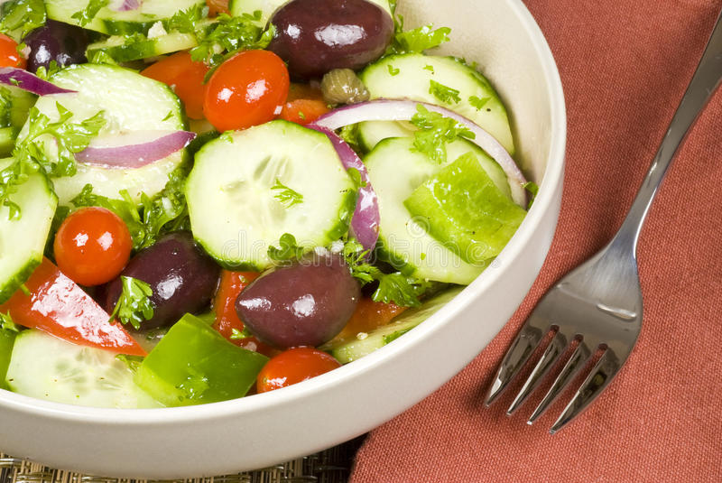 Download Bowl of Salad stock photo. Image of napkin, bowl, food - 12737798