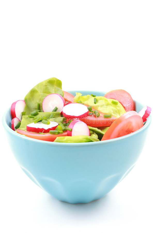 Bowl of salad royalty free stock photos