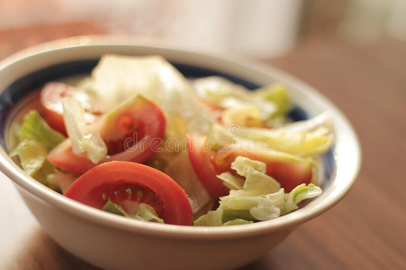 Bowl of salad royalty free stock image