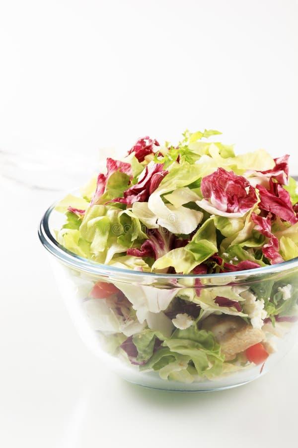 Bowl of salad greens royalty free stock images