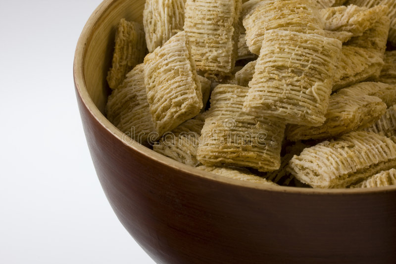Bowl Of Shredded Wheat Cereal Stock Images