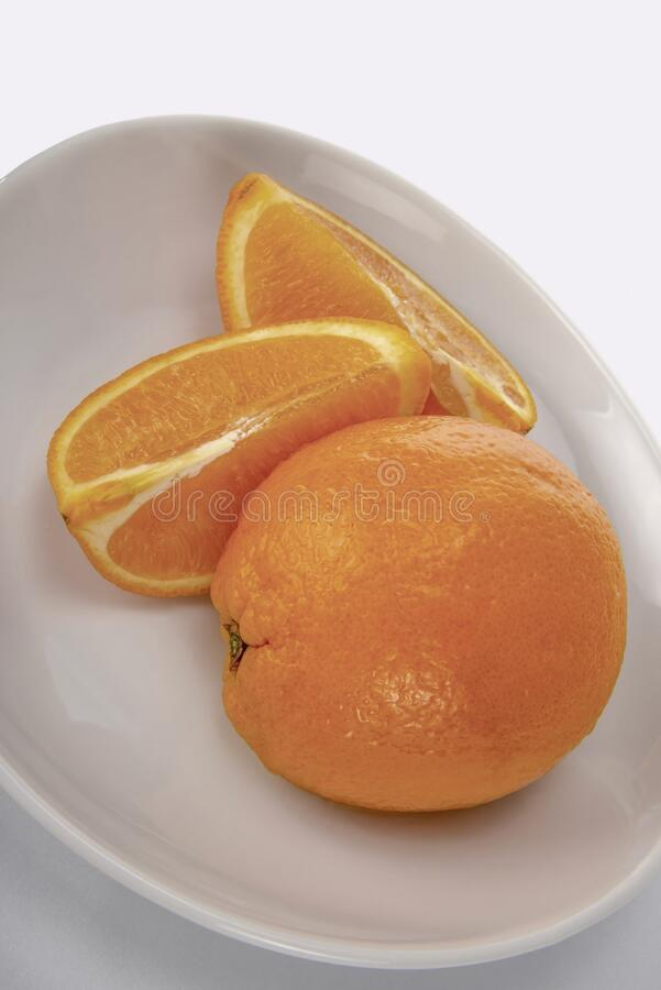 Oranges,fruit,sliced stock image