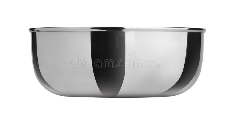 Bowl From Stainless Steel Royalty Free Stock Image