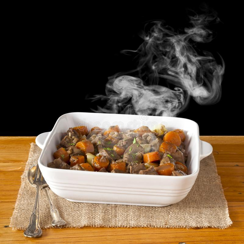 Beef Stew with Steam stock photo