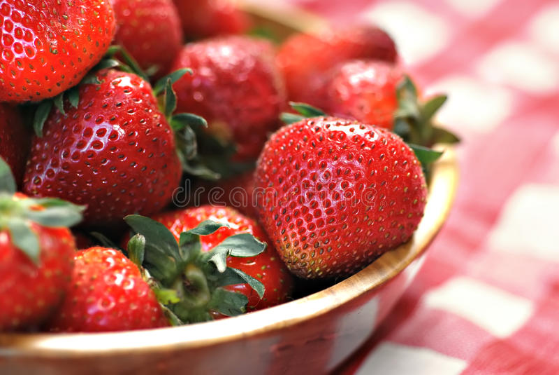 Download Bowl of Strawberries stock image. Image of bowl, full - 15474795