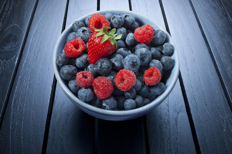 Bowl Of Summer Berries stock photos