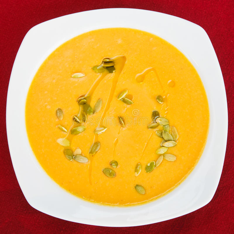 Bowl of vegetable soup royalty free stock photography