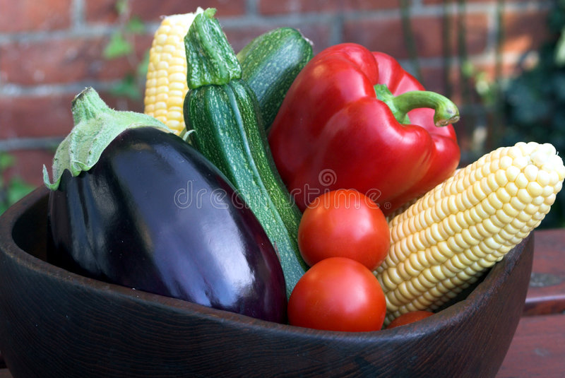 Bowl of Vegetables stock photos