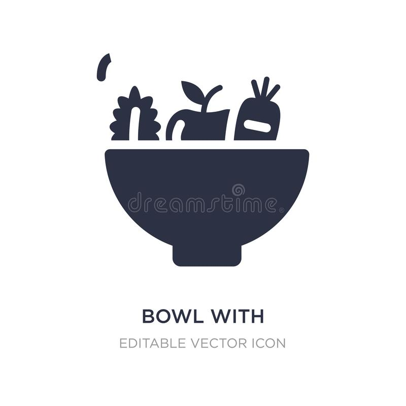 bowl with vegetables icon on white background. Simple element illustration from Food concept vector illustration