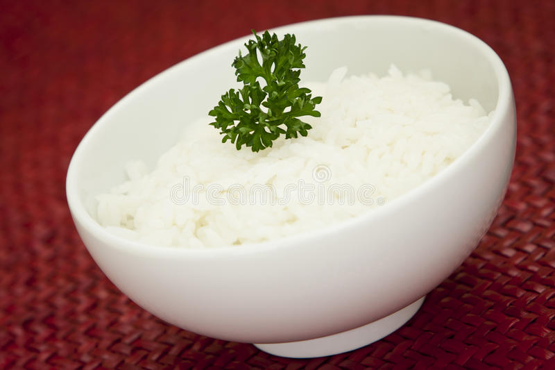 Bowl of white rice royalty free stock images