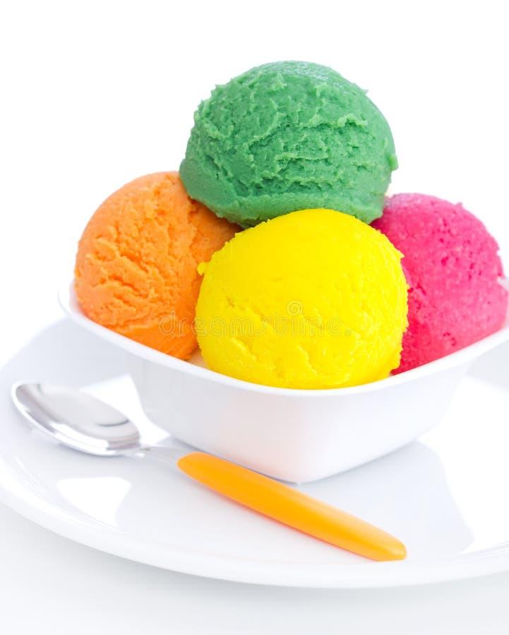 Free Bowl With Fruit Ice Cream Stock Photos - 39405403