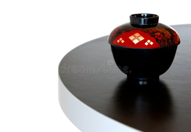 bowla japansk soup royaltyfri fotografi