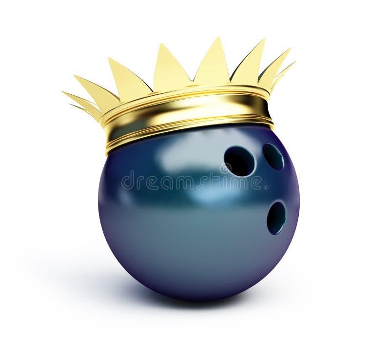 bowla konung royaltyfri illustrationer