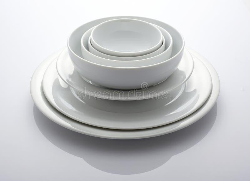 bowla plattan fotografering för bildbyråer