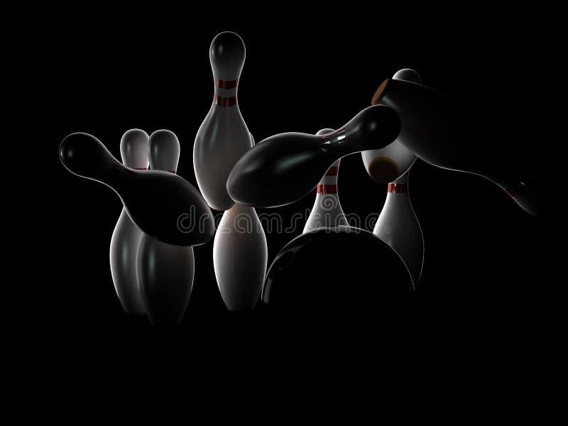 bowla slag royaltyfri illustrationer