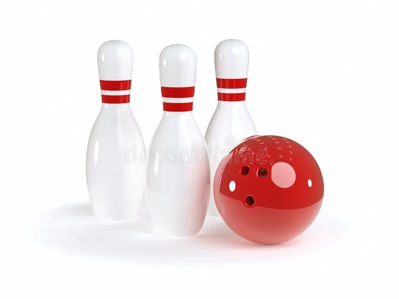 bowla uppsättningen stock illustrationer