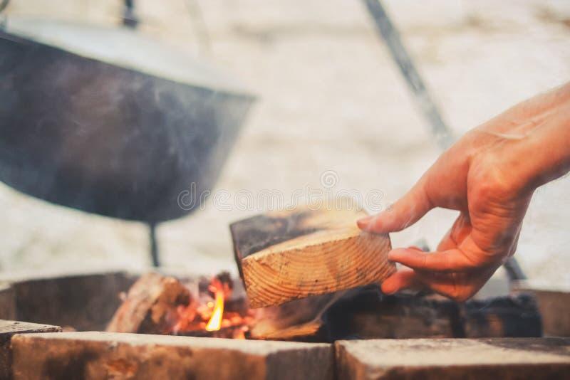 Bowler on the bonfire stock photo