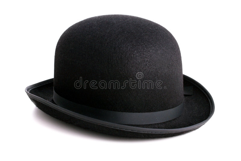 Bowler hat. A stylish black bowler hat - ioslated with clipping path