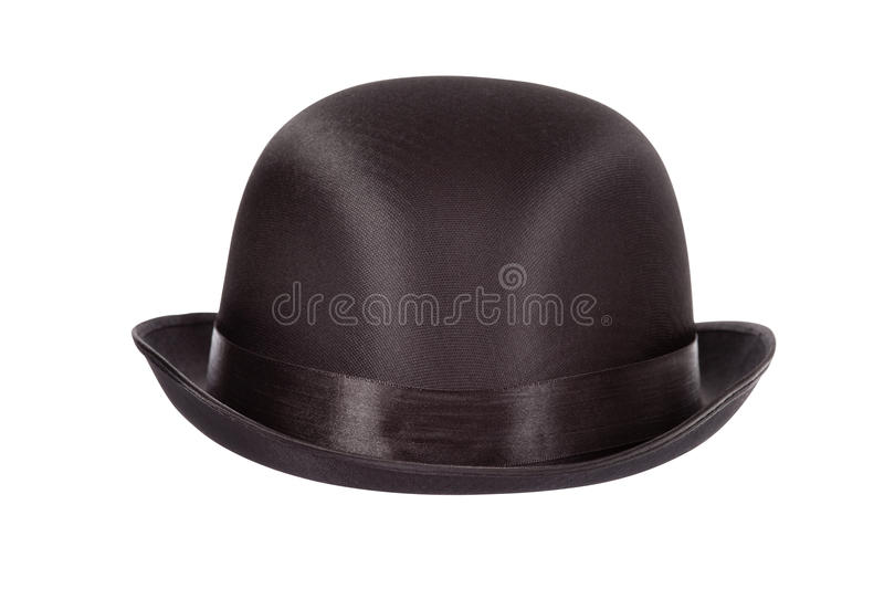Bowler hat. Isolated on white background clipping path included royalty free stock photo