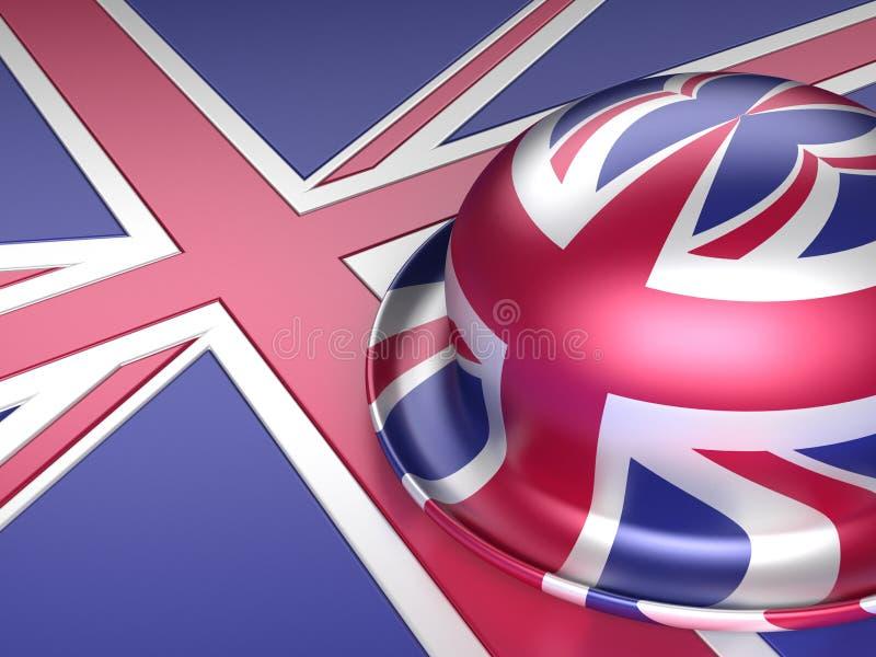 Download Bowler hat with UK flag stock illustration. Illustration of retro - 18539801