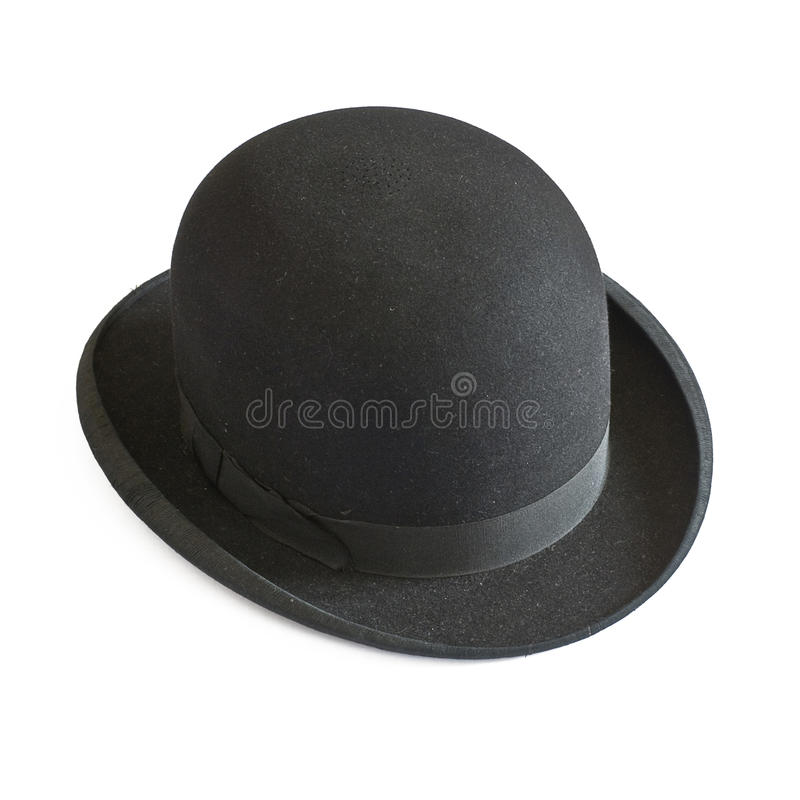Bowler hat on white. Bowler hat isolated on white royalty free stock image