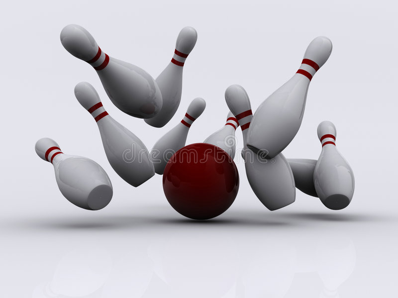 Download Bowling 1 stock illustration. Image of concept, bowls - 3493157