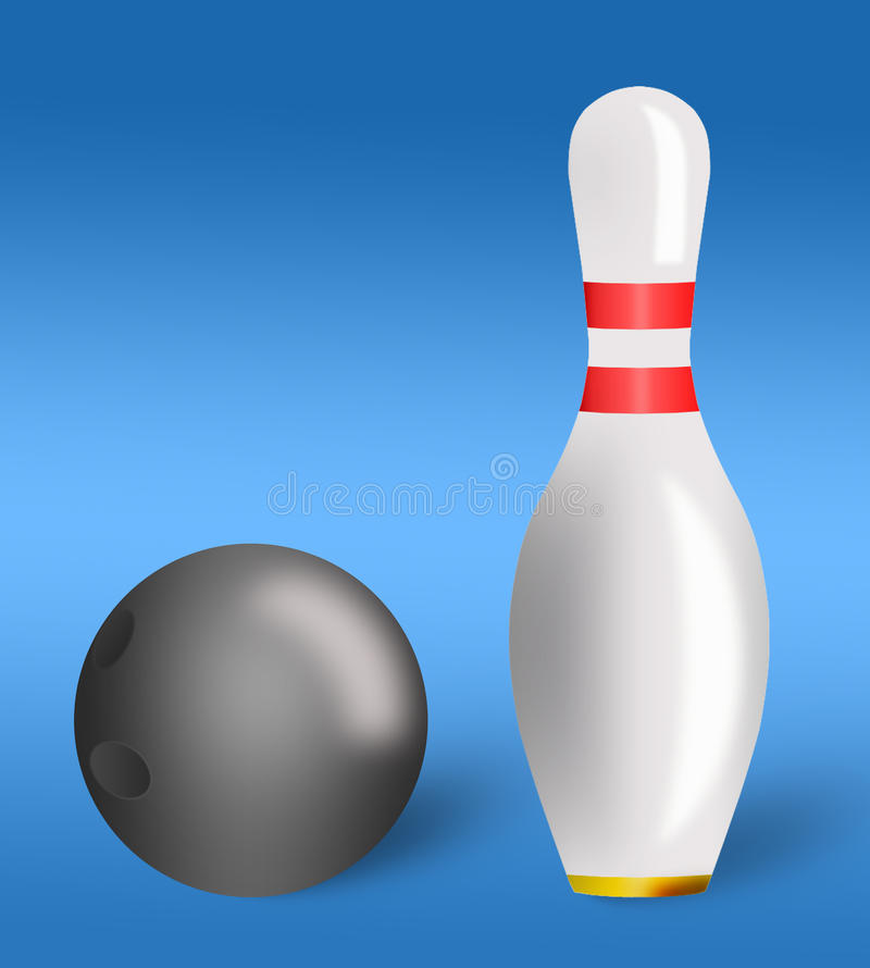 Download Bowling stock illustration. Illustration of roll, figure - 11174193
