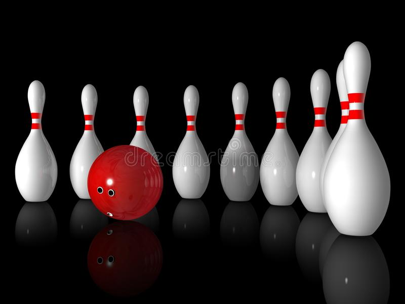 Download Bowling stock illustration. Illustration of pursuit, opportunity - 11372593