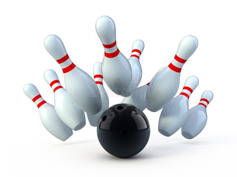Bowling royalty free illustration
