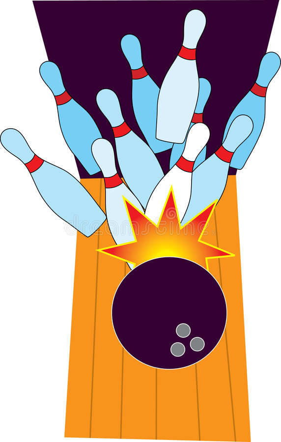 Bowling. Pins and Ball with Star vector illustration