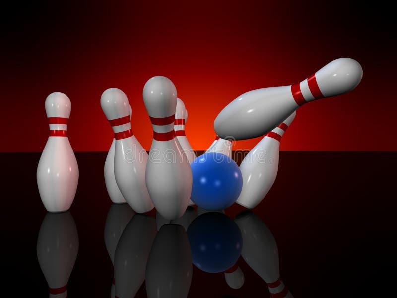 Bowling stock illustration