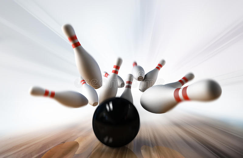 Download Bowling stock illustration. Image of concept, nobody - 17829386