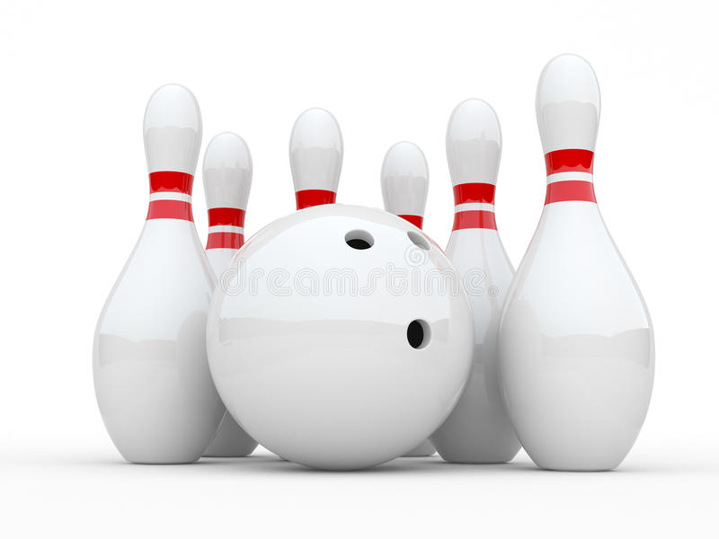 Download Bowling stock illustration. Image of leisure, colored - 18170916