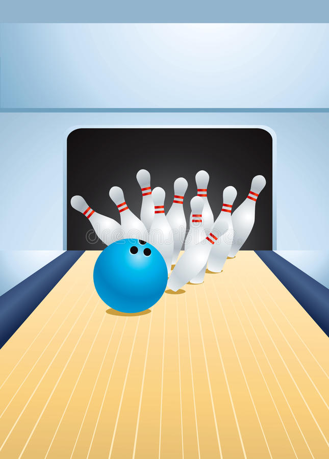 Bowling illustration stock