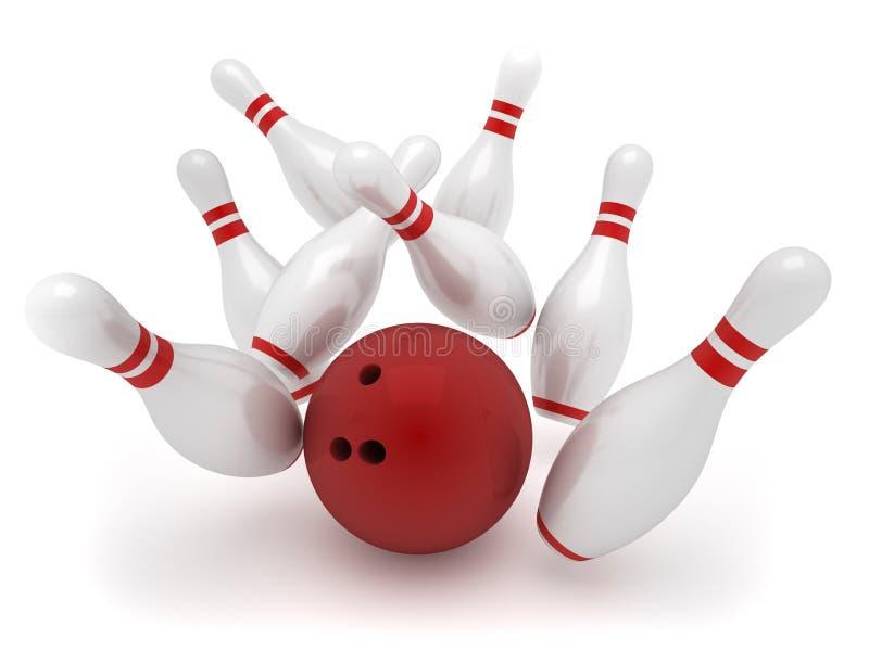 bowling stock illustrationer