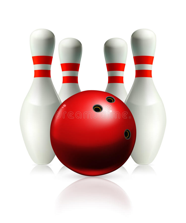 bowling vektor illustrationer