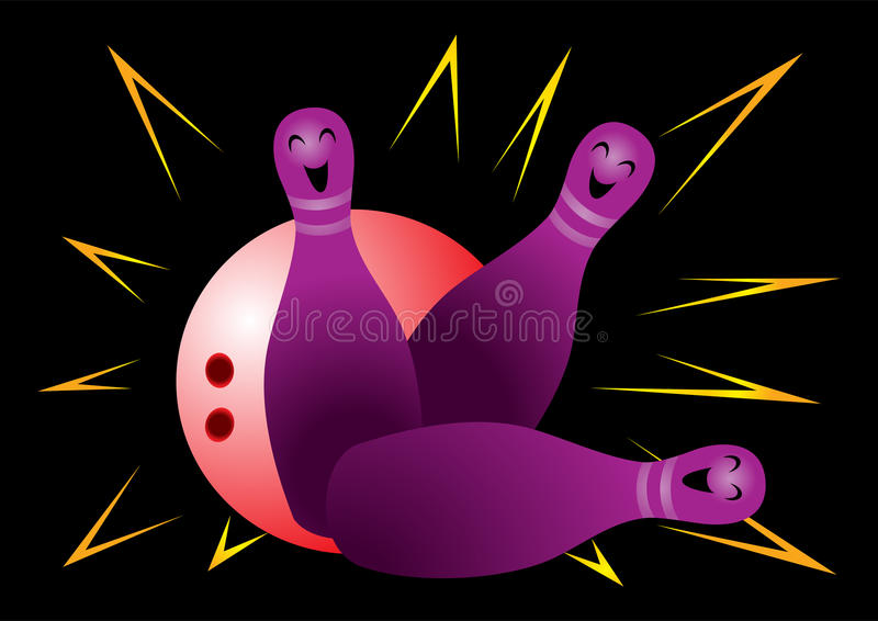 Download Bowling stock vector. Image of recreation, leisure, bowling - 26003545
