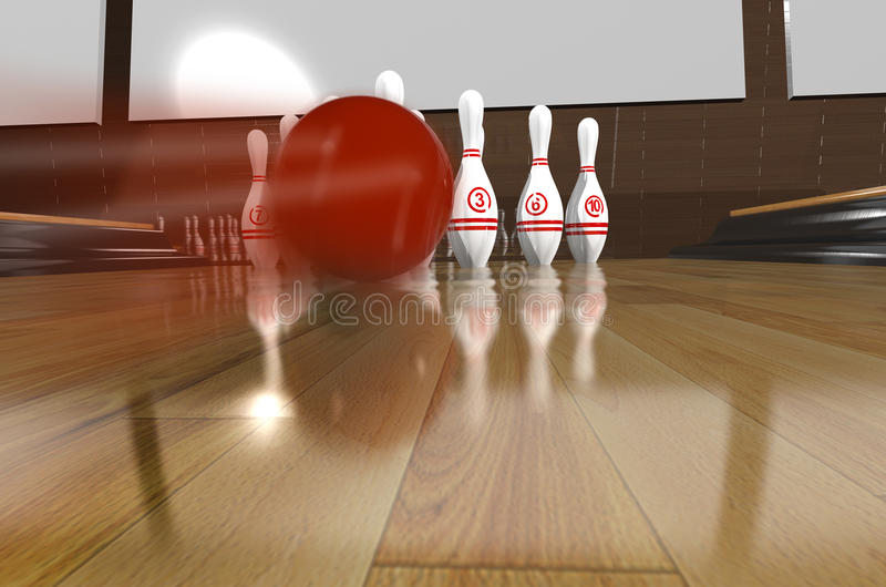 Bowling.3d Rendr Royalty Free Stock Photography