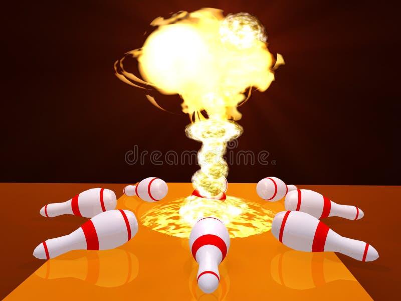 Bowling stock de ilustración
