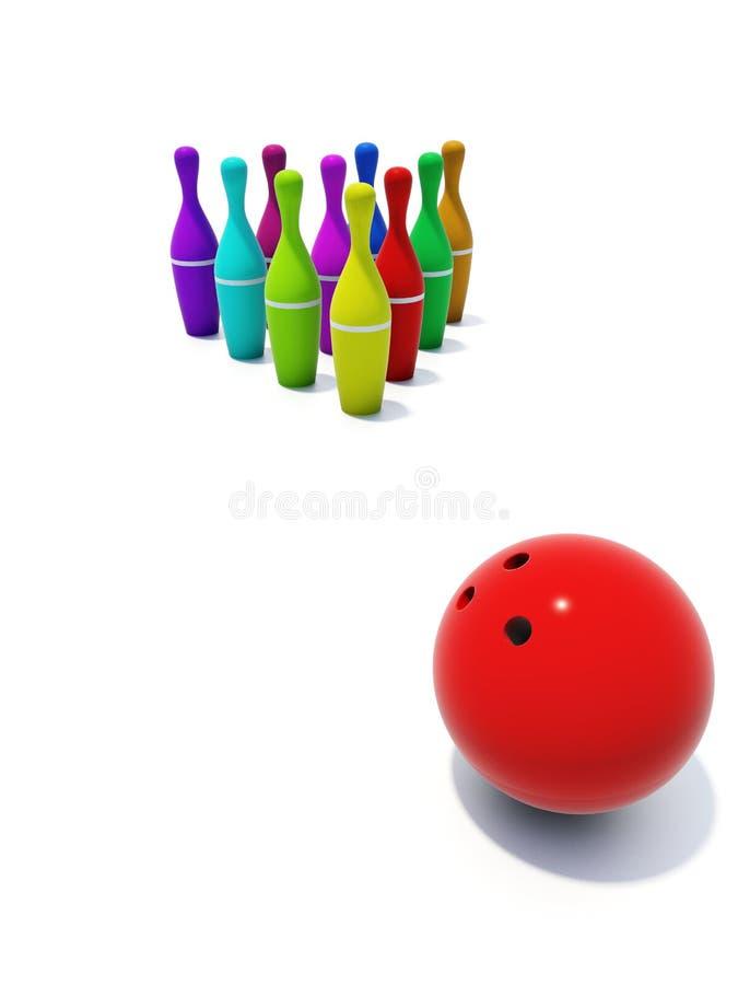 Download Bowling stock illustration. Image of color, target, success - 4467374