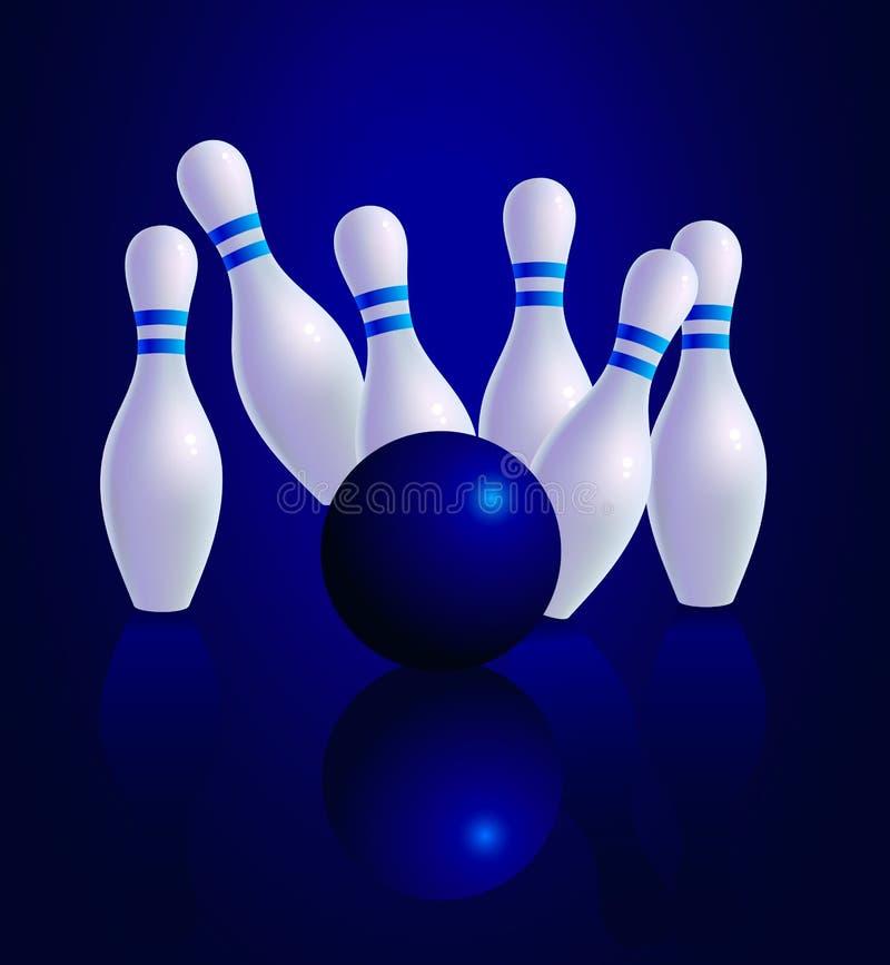 bowling illustrazione vettoriale