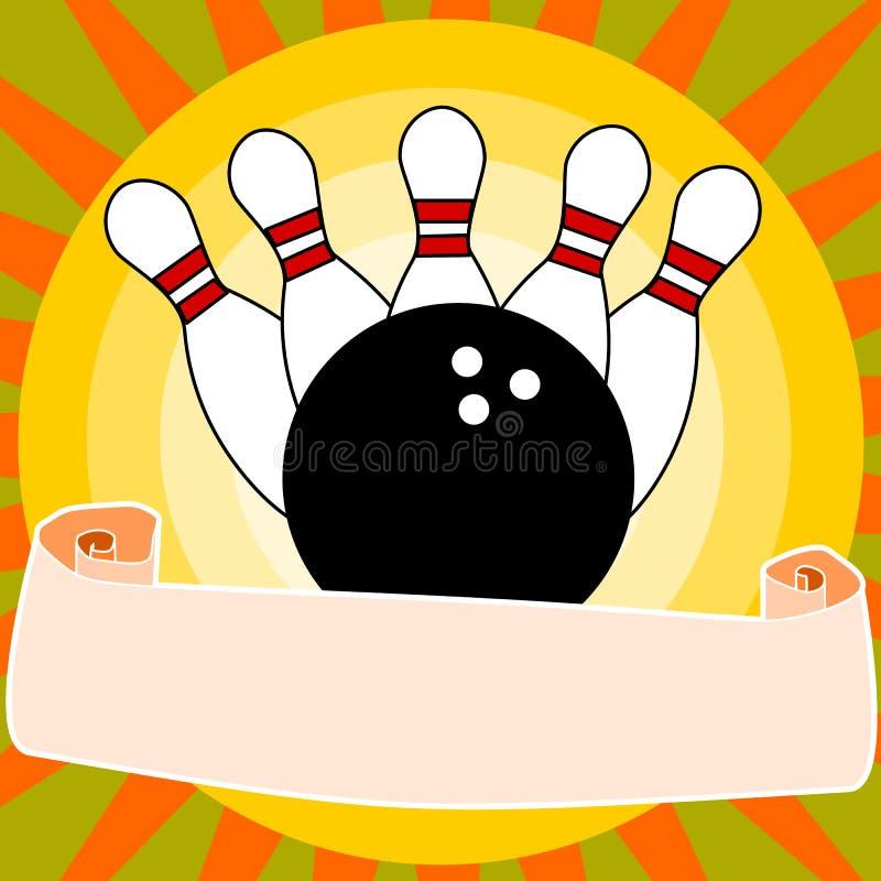Bowling illustration libre de droits