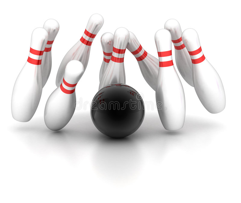 Bowling ilustração stock