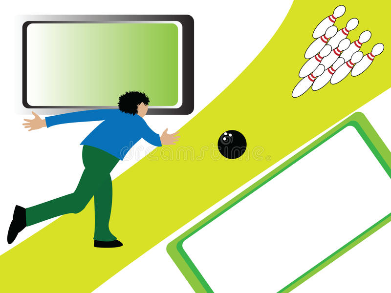 Download Bowling stock vector. Image of sporting, skittle, play - 9779072