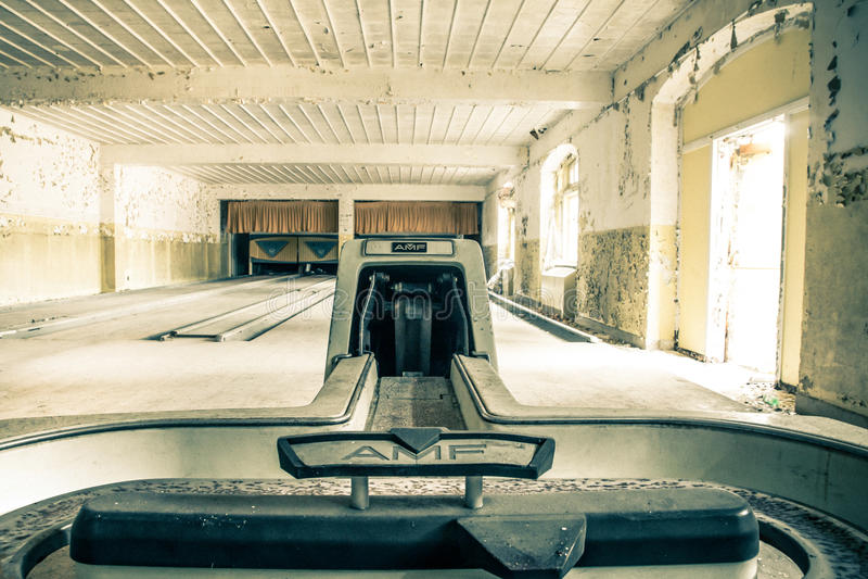 Bowling abandonné images libres de droits