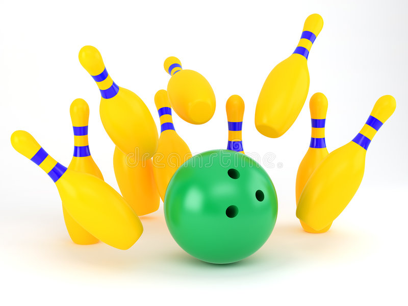 Bowling-aléia ilustração royalty free