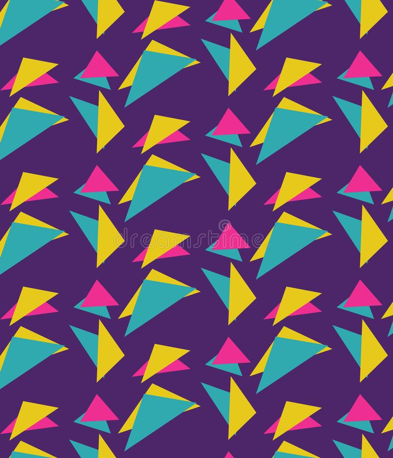 Bowling Alley Retro 90`s Pattern vector illustration